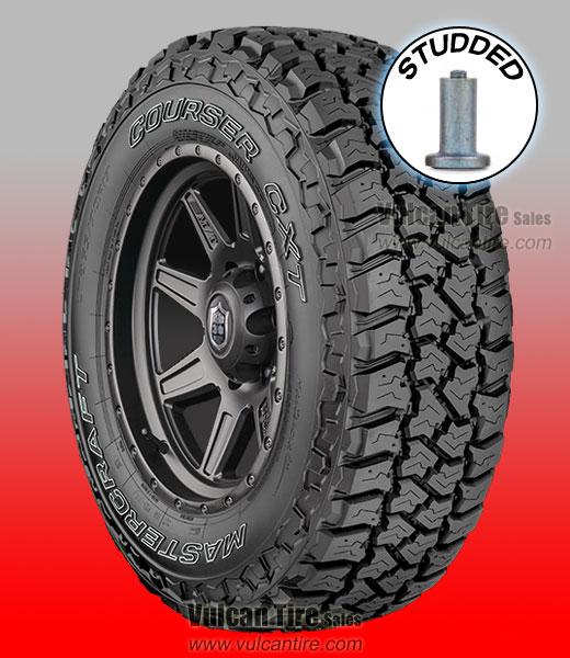 mastercraft courser cxt studded all sizes tires for sale online vulcan tire. Black Bedroom Furniture Sets. Home Design Ideas